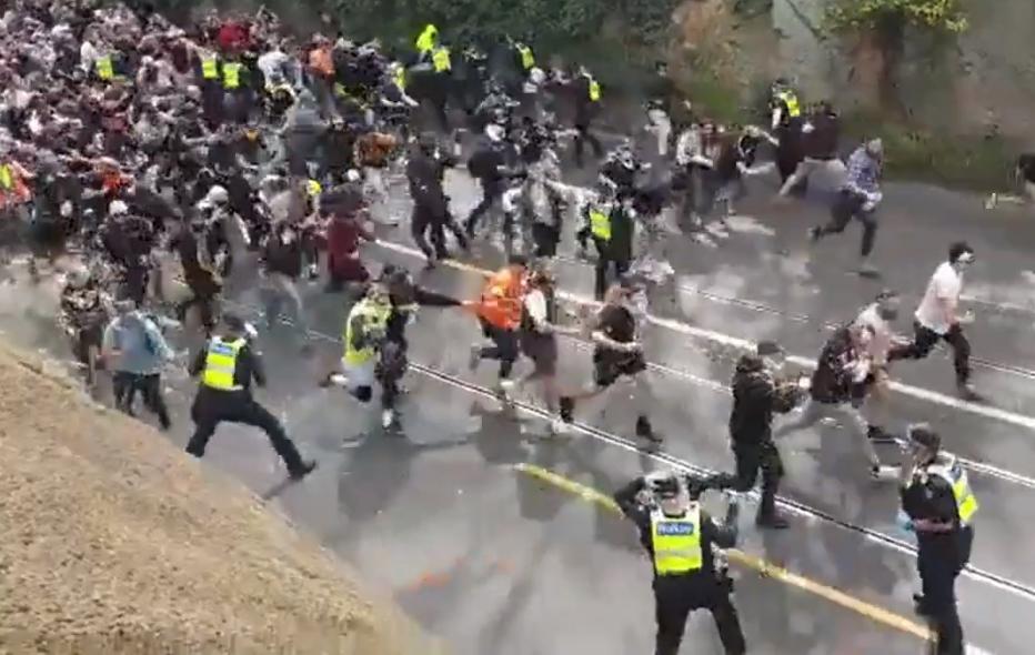 austrálie protest lockdown