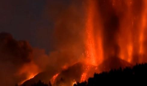 španělsko sopka erupce