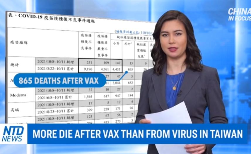 Tchaj-wan úmrtí očkování