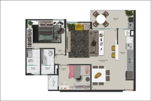apto sala ampliada - 00 - planta humanizada-rev01