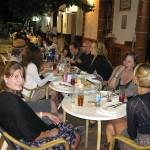 Dinner in a tapas bar in the pedestrian street of Prado del Rey with a group of students studying Spanish and English