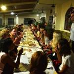 Dinner with local specialities with a group of language students of the Spanish, English and German courses