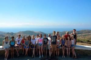 Mit den Spanisch-Sprachschülern beim Kulturausflug zur Meerenge von Gibraltar, hier am Mirador.