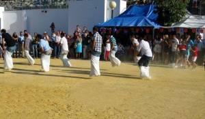 cuture and games at the Feria in Prado del Rey, Andalusia, Spain