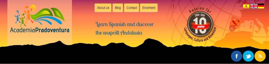 cabecera actual de la web de la academia de idiomas Academia Pradoventura en Prado del Rey