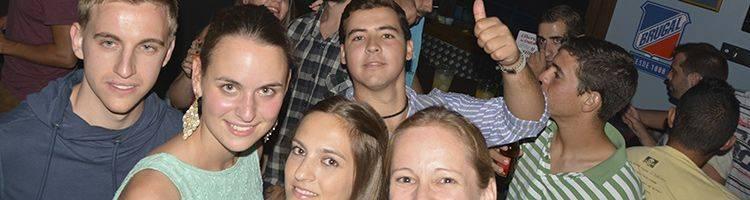 Students having fun nightlife in Prado del Rey