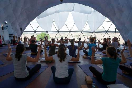 Yoga class in the dome Spanish and Yoga package