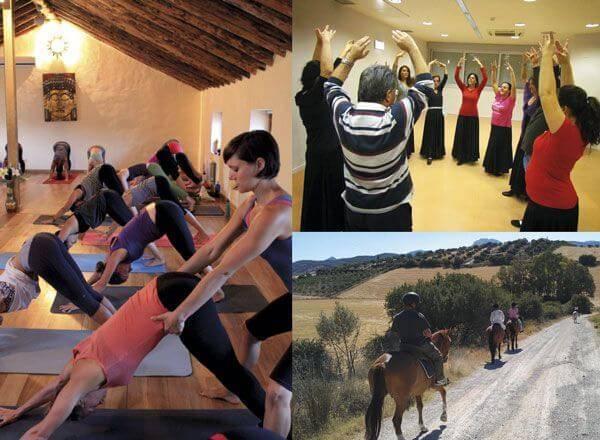 Spezialpakete Spanisch + Spanischkurs und Yoga, Spanischkurs und Flamenco, Spanischkurs und Reiten, Spanischkurs und Wandern