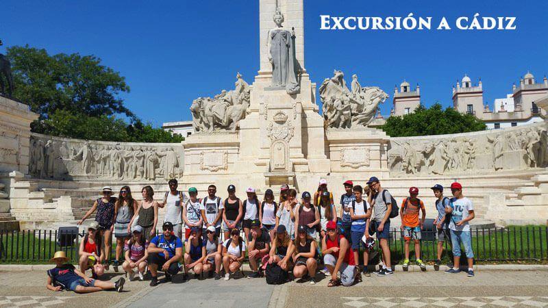 Excursión escolares a Cádiz Plaza de España