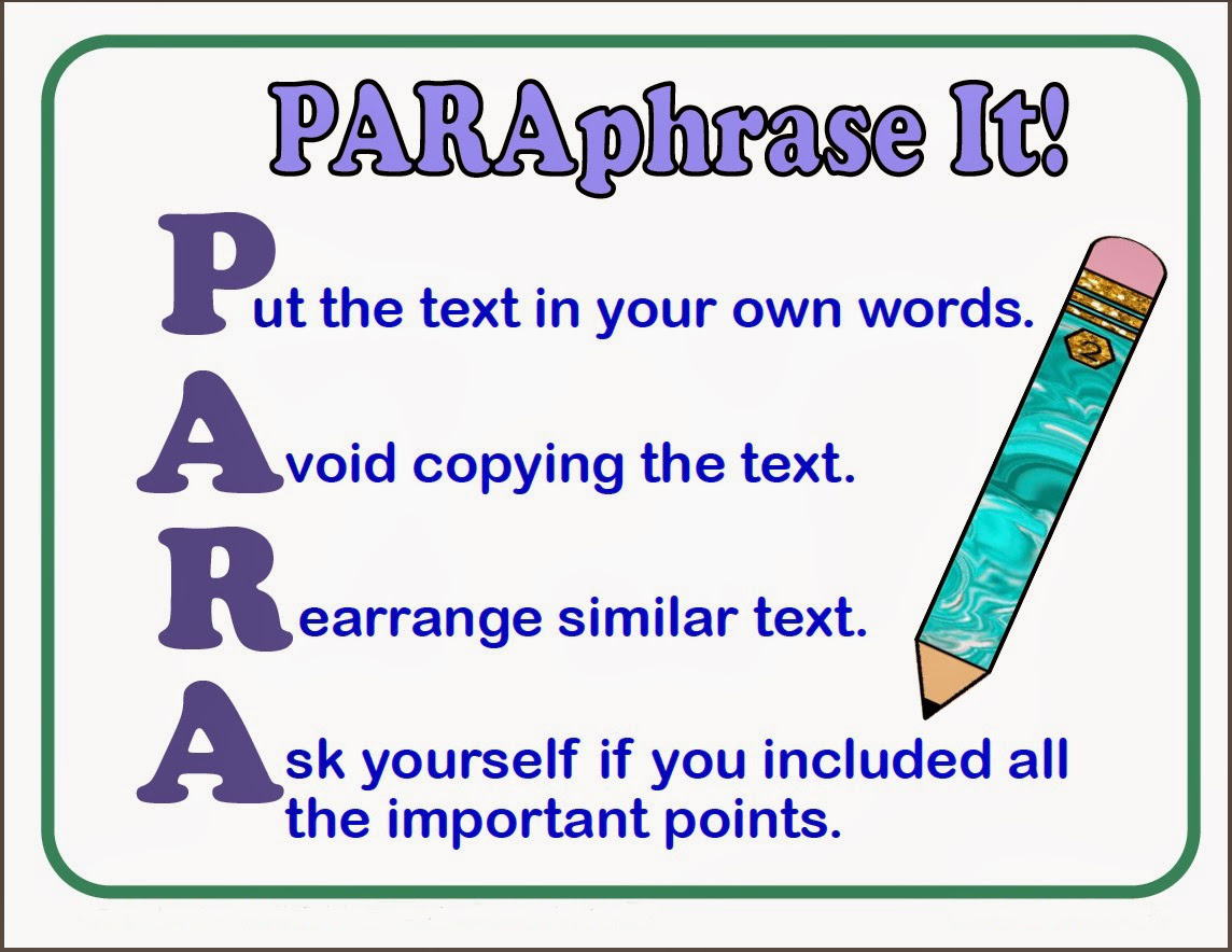 Learn To Paraphrase And Avoid Any Plagiarism Related
