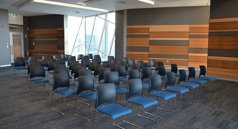 Chairs in a seminar room