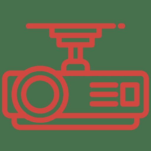 proyector y pantalla interactiva