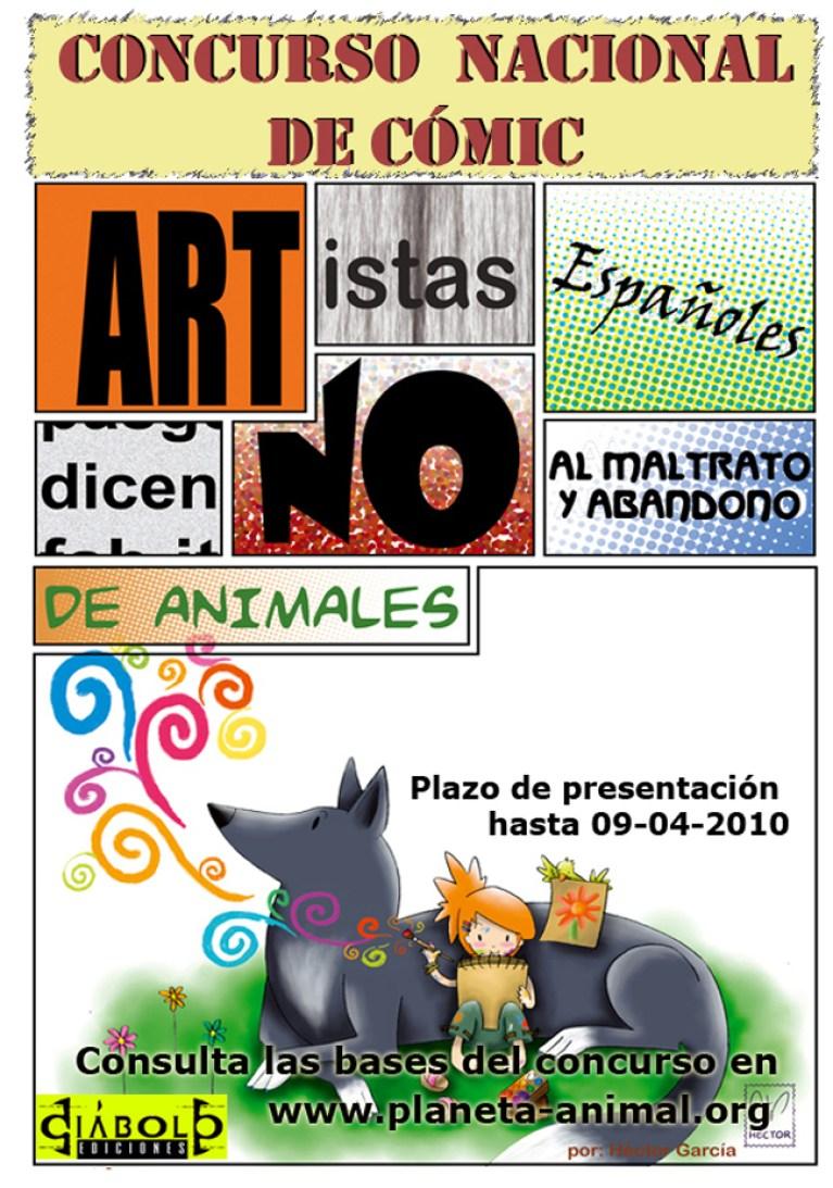 Cartel concurso de comic. Academia c10 recomienda.
