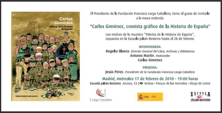 Carlos Gimenez. Academia C10 recomienda.Cursos comic.