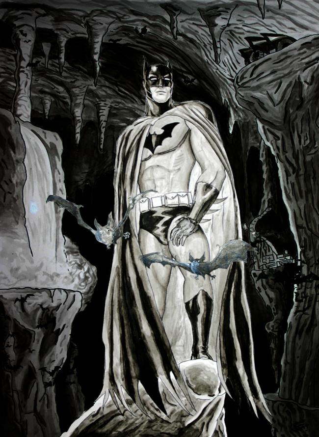 Batman. Trabajo de alumno de cómic e ilustración en Academia C10. Madrid.