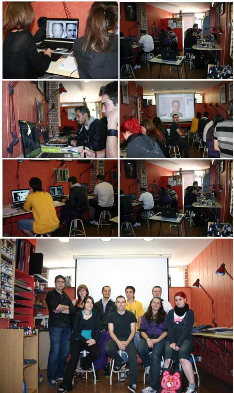Final del Curso de Ilustracion digital en Academia c10 en Madrid