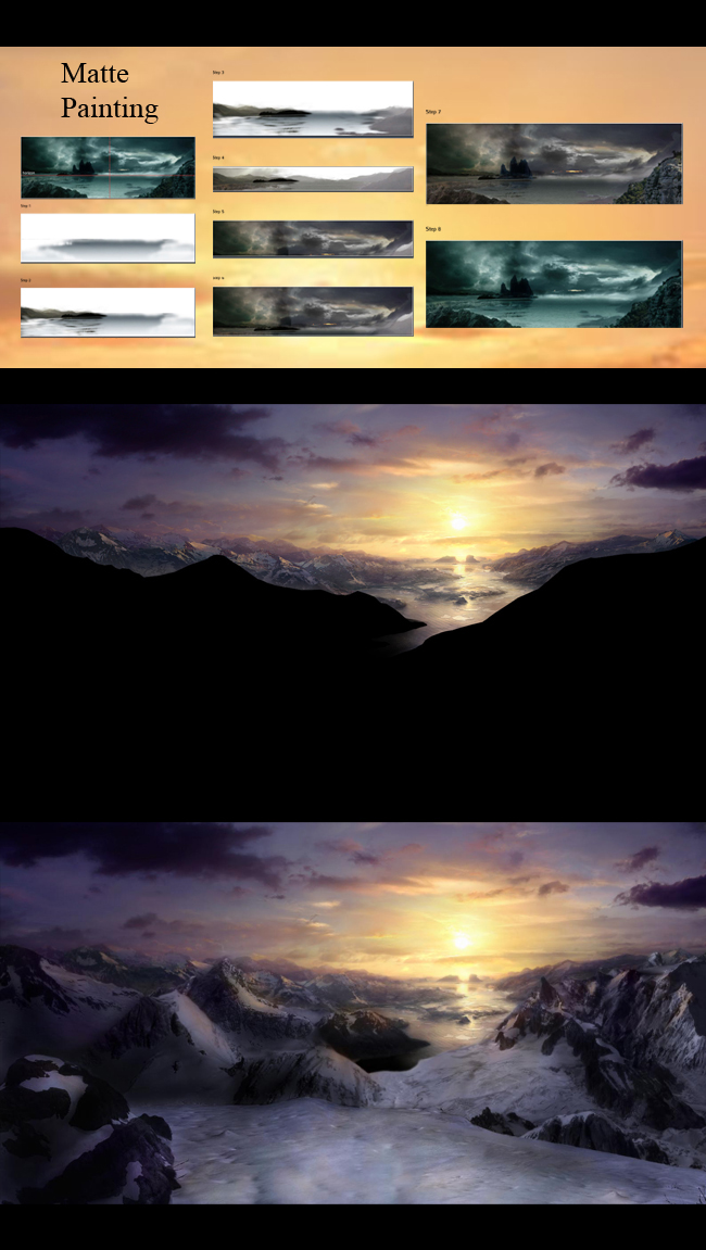 Matte painting digital en Academia C10