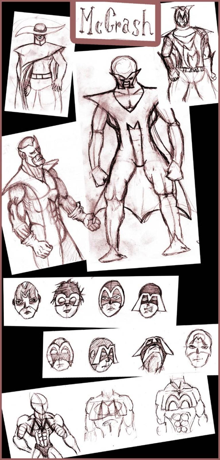 Diseño de Personajes: McCrash en Academia C10. Segunda parte.