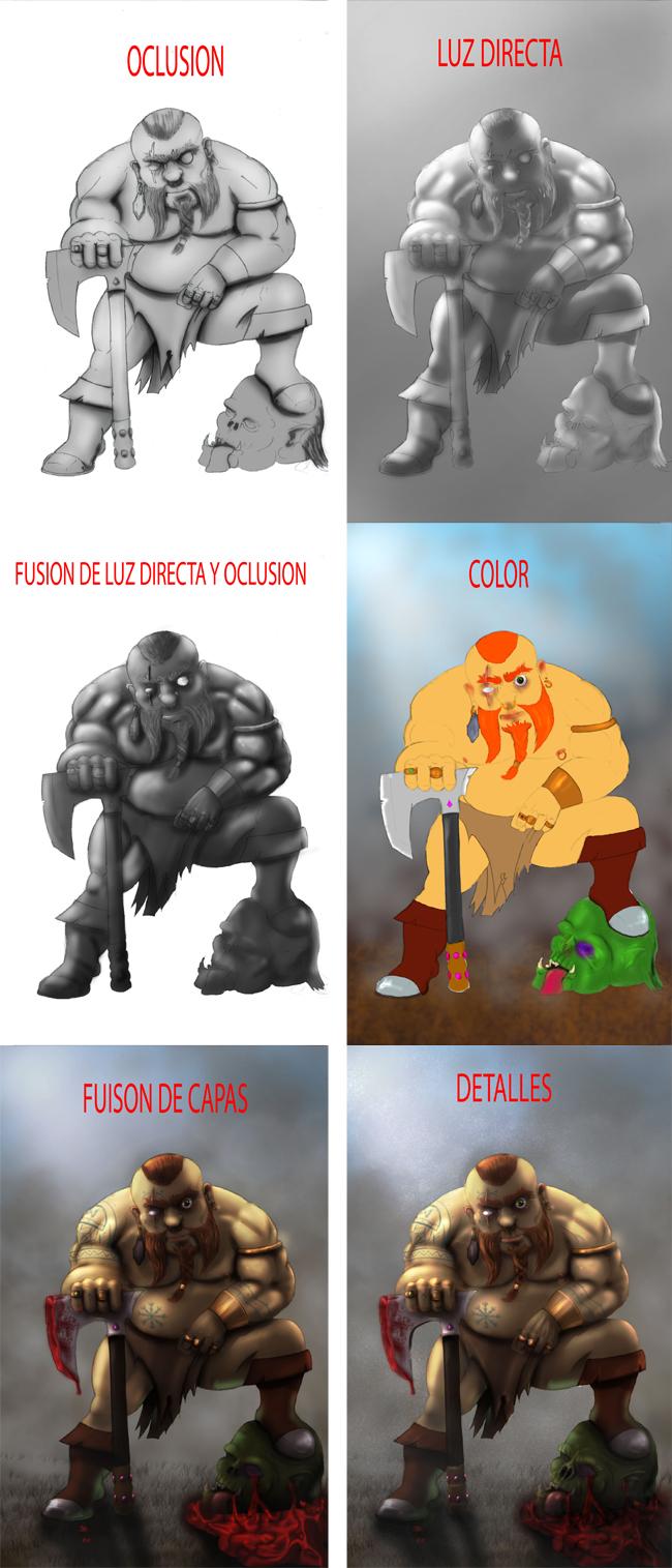Render de un personaje épico con Photoshop