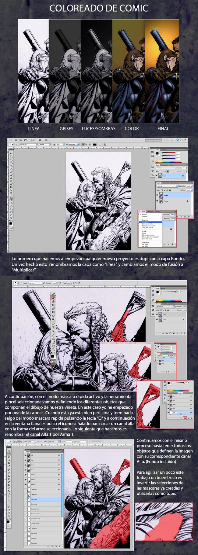 tutorial coloreado digital pag 1 y 2