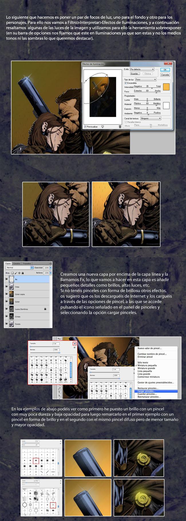 Coloreado digital de cómic. Tutorial de Rodrigo Aguirre: Parte 4.