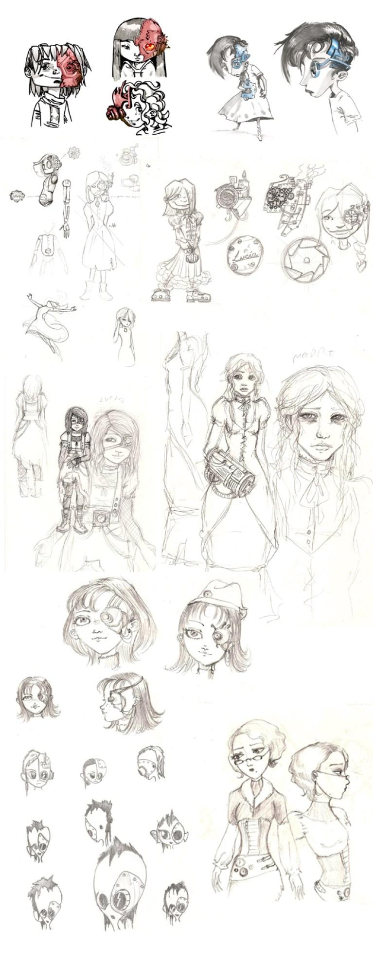 Concept y desarrollo de personajes en Academia C10.