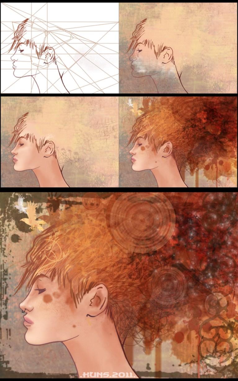 Pinceles Photoshop en el Master C10 de Ilustración digital.