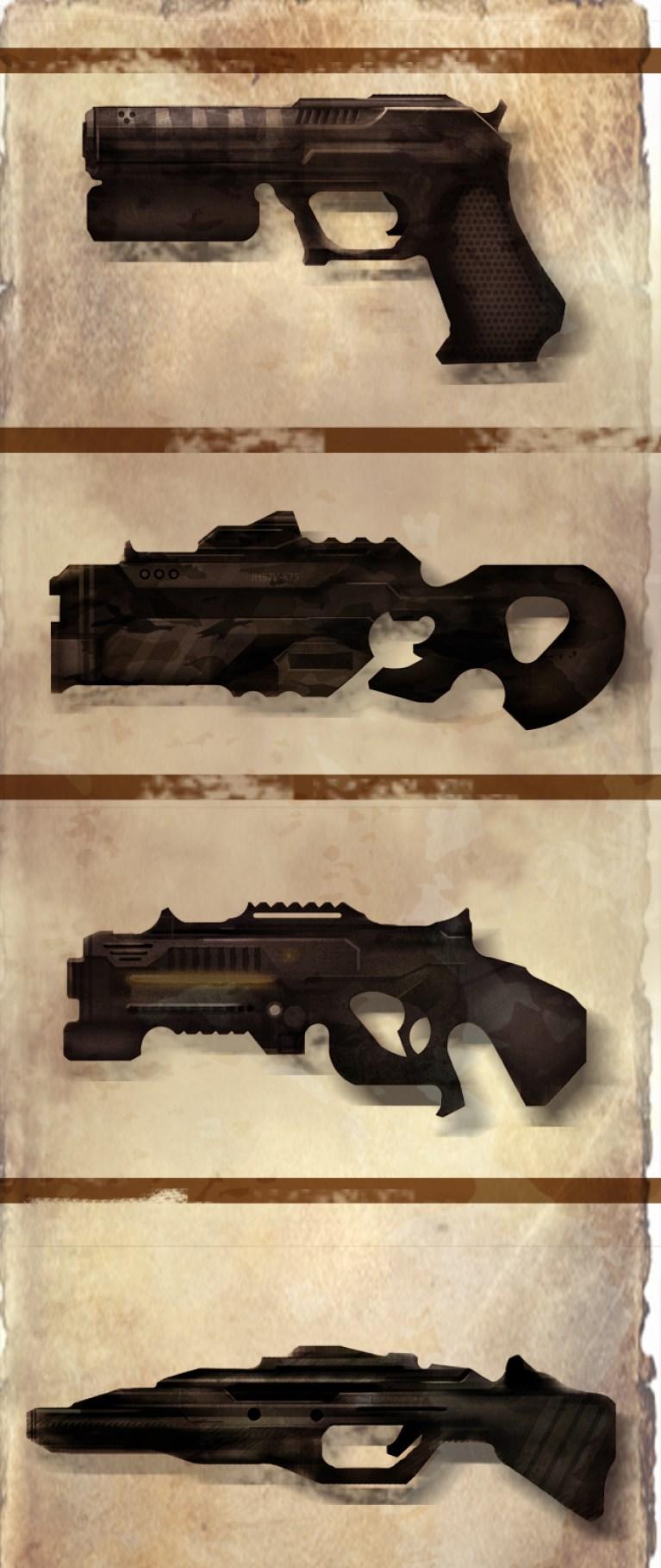 Concept art de vídeojuegos: Las armas.