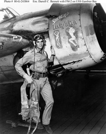 Ilustraciones de estetica pin up realizada en-ilustracion en aviones de combate americanos.