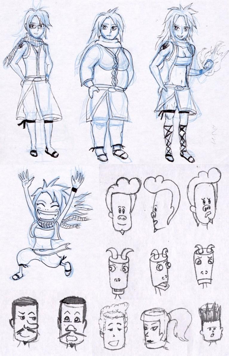 personajes-simples-comic-trabajos-alumnos-academiac10-madrid