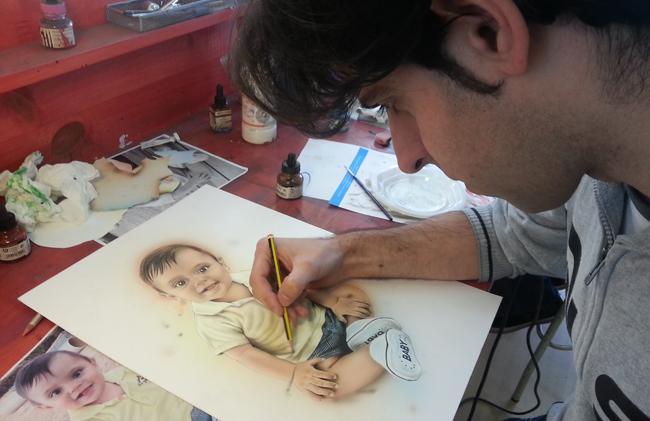 Trabajos-alumnos-cursos-aerografia-ilustracion-comic-academia-c10-madrid-verano-acrilicos-dibujo