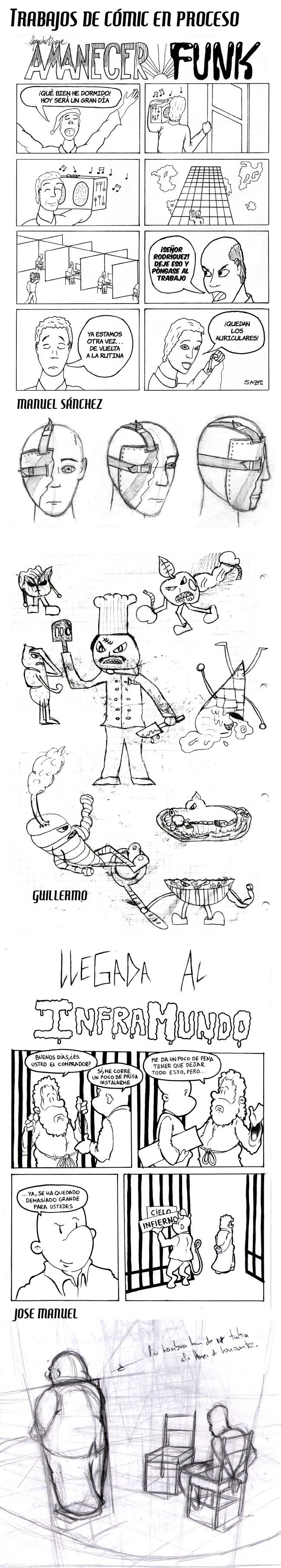trabajos-alumnos-curso-comic-sabados-clases-manga-dibujo-verano