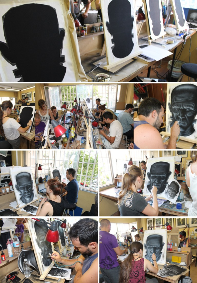 Aerografia-pintura-camisetas-aerogrago-alumnos-cursos-academia-c10-carlos-diez-dibujo-comic-ilustracion-1