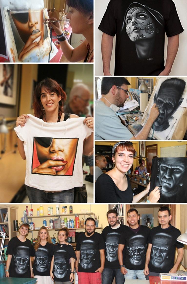 Cursos-clases-erografia-pintura-camisetas-aerogrago-alumnos-cursos-academia-c10-carlos-diez-dibujo-comic-ilustracion