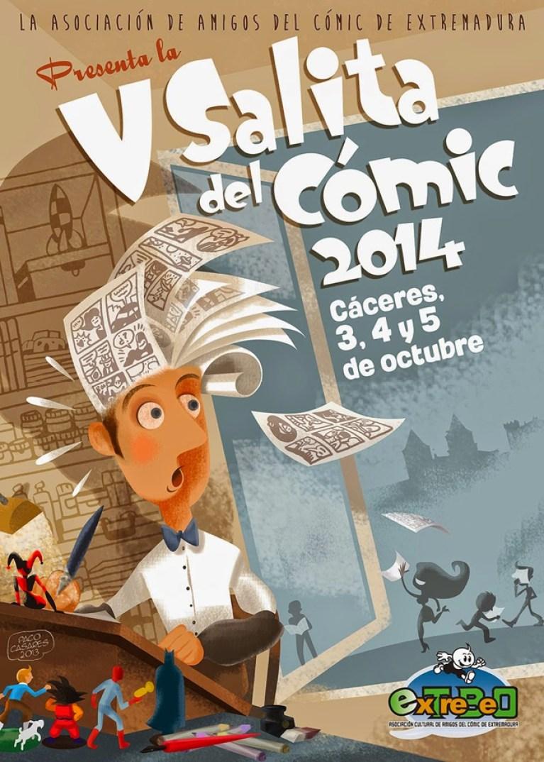 Cartel-V-Salita-comic-caceres-extremadura-carlos-pacheco-julian-clemente