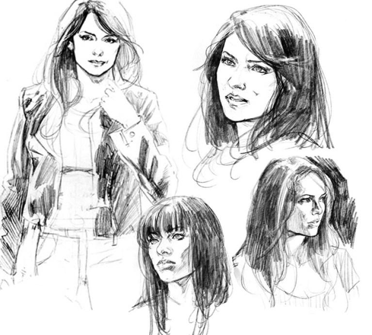 ilustraciones y dibujos de xermanico dibujante de superheroes dc comics en academia c10 profesor madrid.