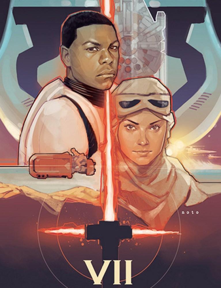 Ilustraciones-posters-dibujo-comic-arte digital-comic-star wars-episodio-VII