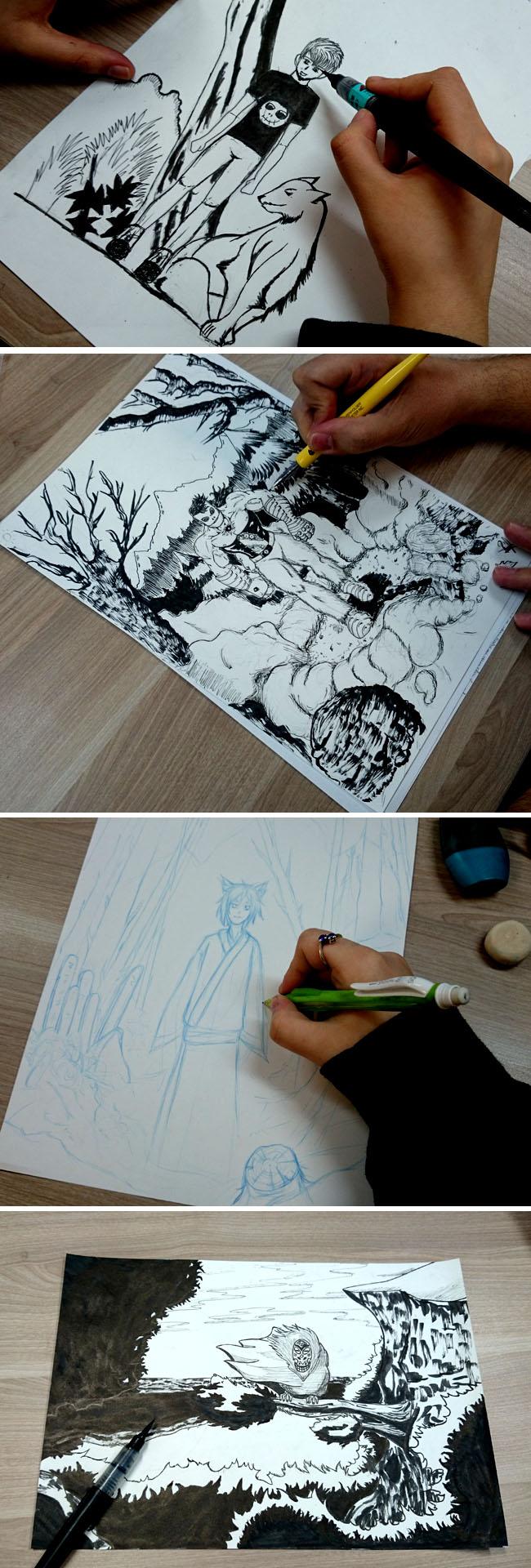 Banner_entintando_pincel_cursos_comic_manga_academiac10_madrid
