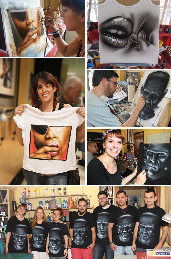 Cursos_clases_aerografia_pintura_camisetas_aerogrago_alumnos_cursos_academia_c10_carlos diez_dibujo_comic_ilustracion
