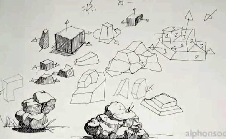 Curso De Manga En Academia C10 Cómo Dibujar Rocas