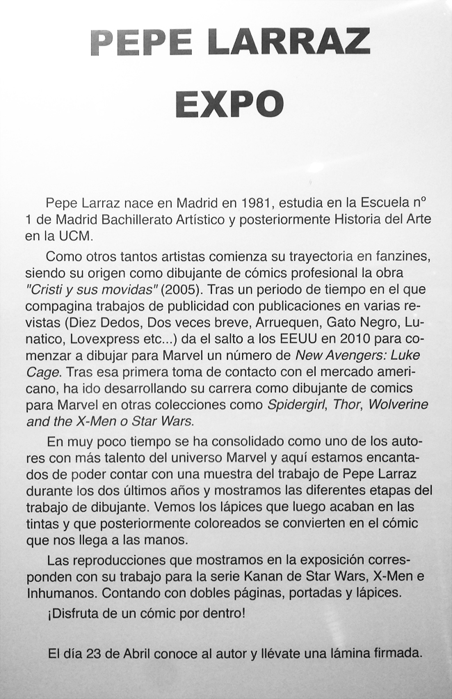 Pepe Larraz-STAR WARS-Generacion X-Comc-Fan-Academia C10