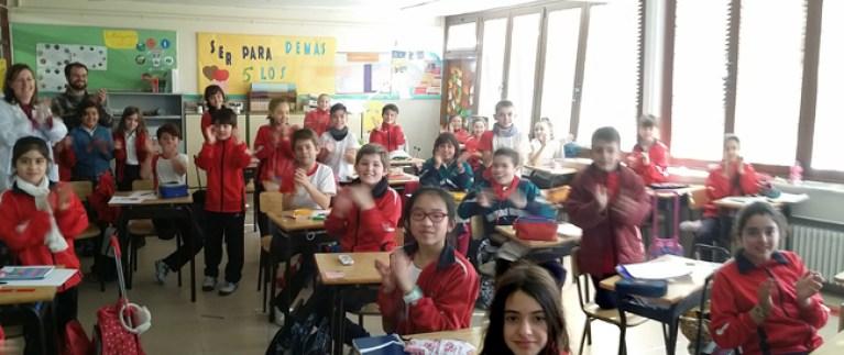 Clase de niños en el Colegio Virgen Milagrosa de Madrid