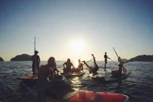 Spanish Traveling Classroom in Costa Rica - Week 2 Stand Up Paddle