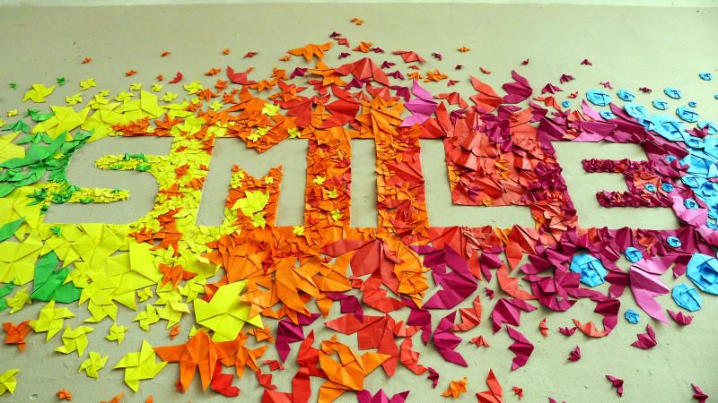 Belajar Menulis membuat Smile always