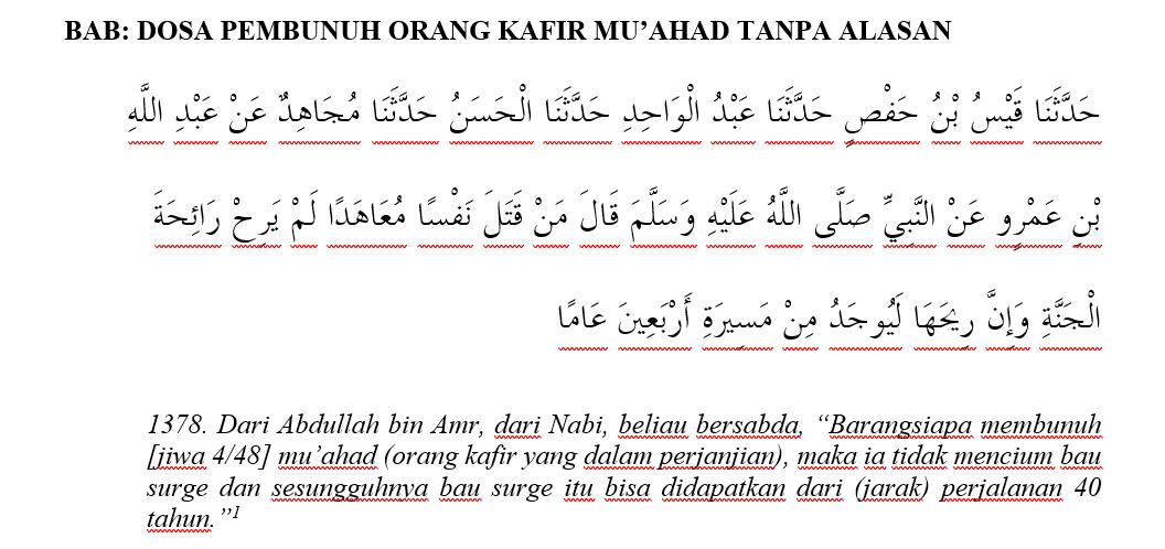Hadis Komunikasi Interreligion Hadis Shahih Bukhari