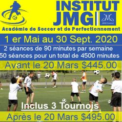 Promo inscription academie de soccer ete 2020