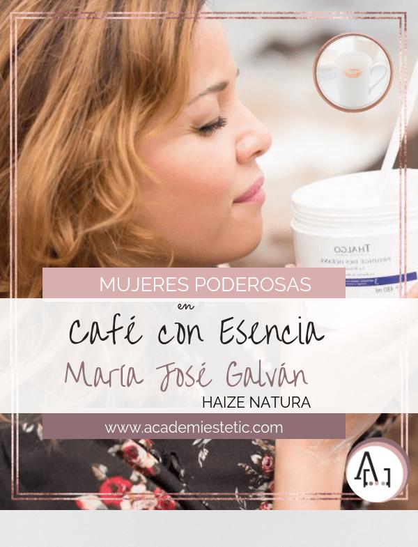 Hoy café en con esencia María José Galván de Haize Natura