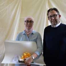 Prijs directeur Philip Boël: als verdienstelijke leerling in het 5de jaar hogere graad atelier fotokunst: Naïma El Kadi