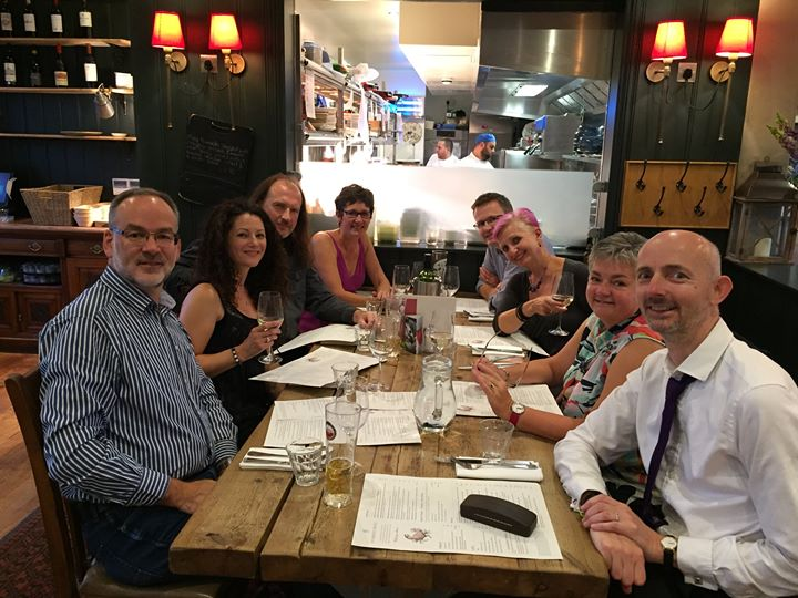 Celebrating our success at Guildford Fringe with our partners at The Sun Inn. Fabulous evening of laughter and friendship.