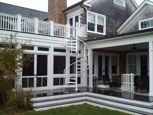 Outdoor Spiral Stairs Exterior Staircases In Ct Nyc Acadia   Outdoor Spiral Staircase Installation   Simple   3 Floor   Outdoor   Backyard   Roof Deck